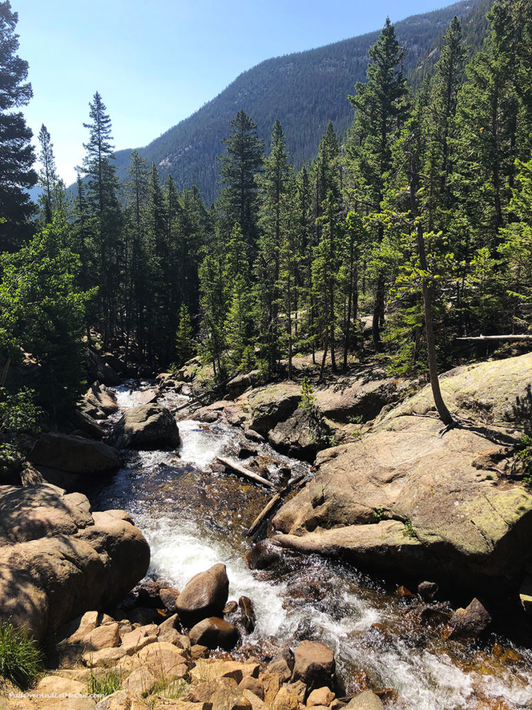 waterfall in Rocky Mountain National Park Colorado