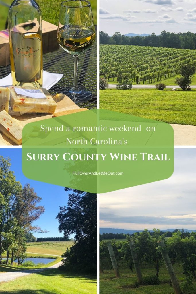 Collage of pictures of Surry County Wine Trail