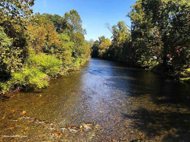 The Oconaluftee River in Cherokee, NC