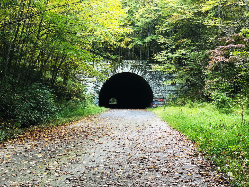 Stone tunnel on a path. Road to nowhere Bryson City, NC PullOverAndLetMeOut