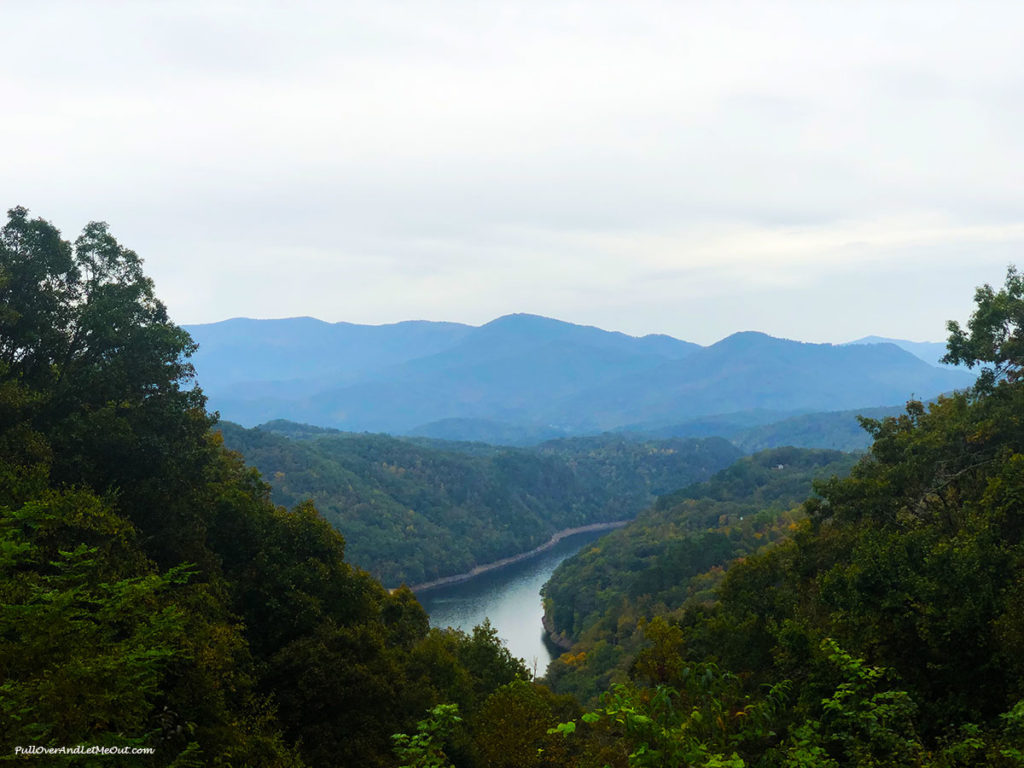View of Fontana Lake on the Road to Nowhere near Bryson City, NC