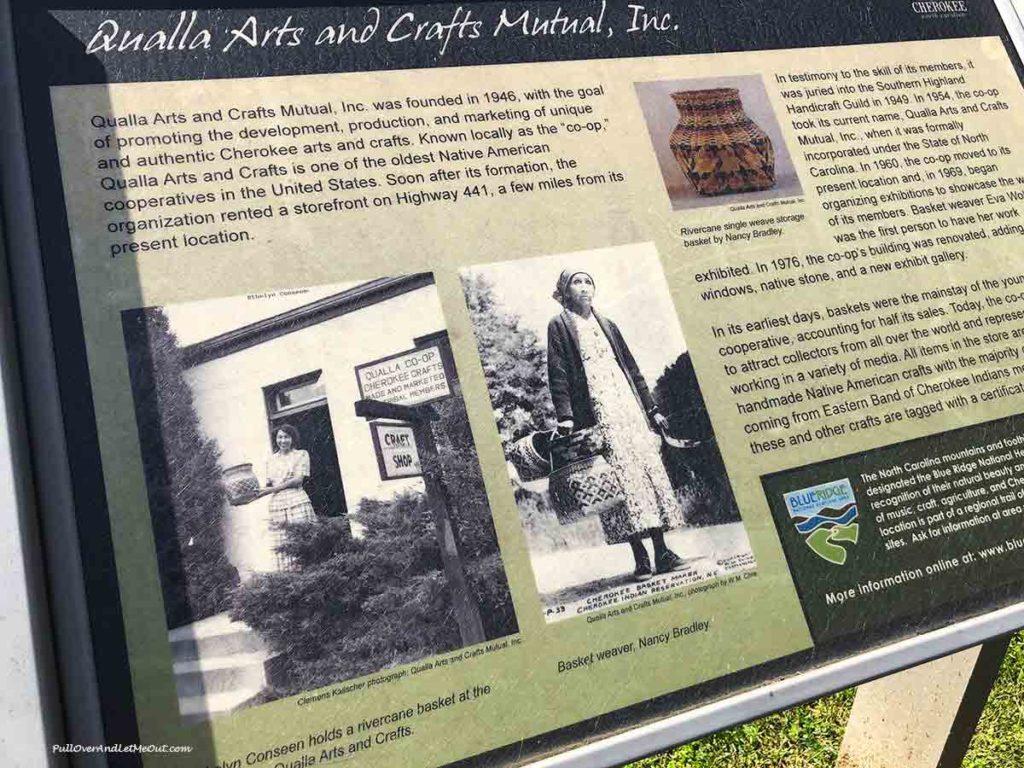 story board display at Qualla Arts Center Cherokee, NC PullOverAndLetMeOut