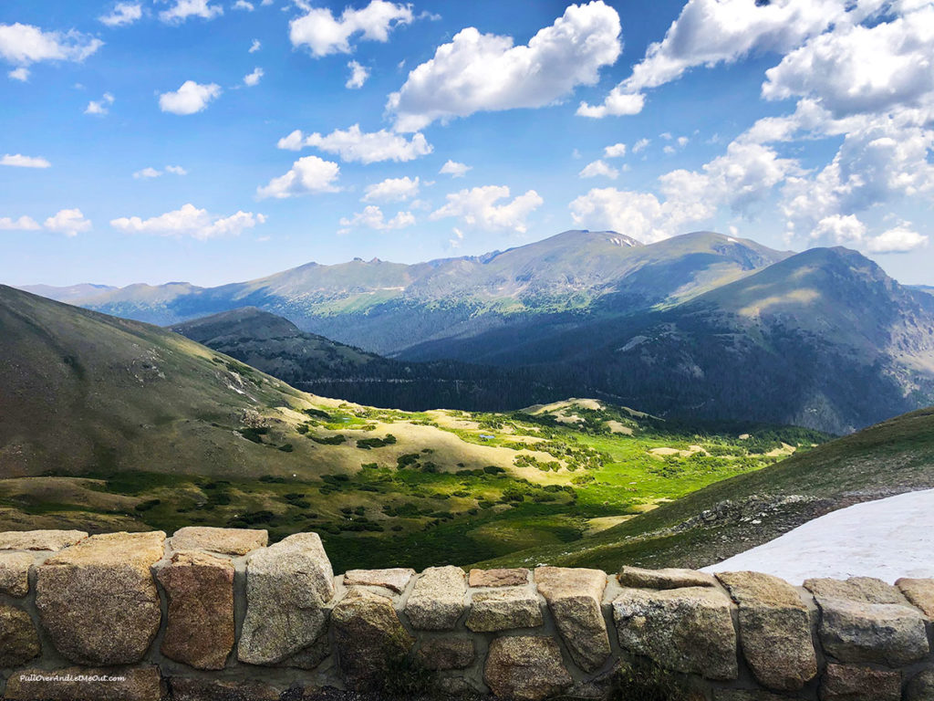 View of the mountains in Rocky Mountain National Park
