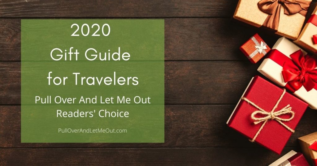 picture of a gift with a title 2020 gift guide for travelers