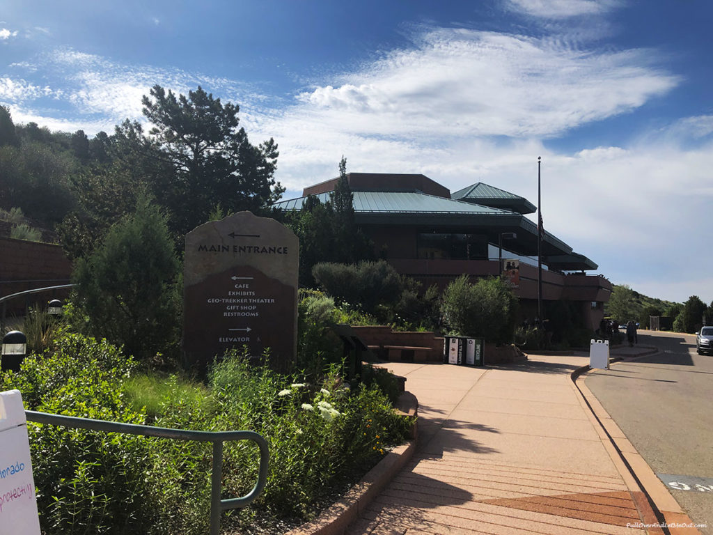 Entrance to the Garden of the Gods Visitor Center in Colorado Springs