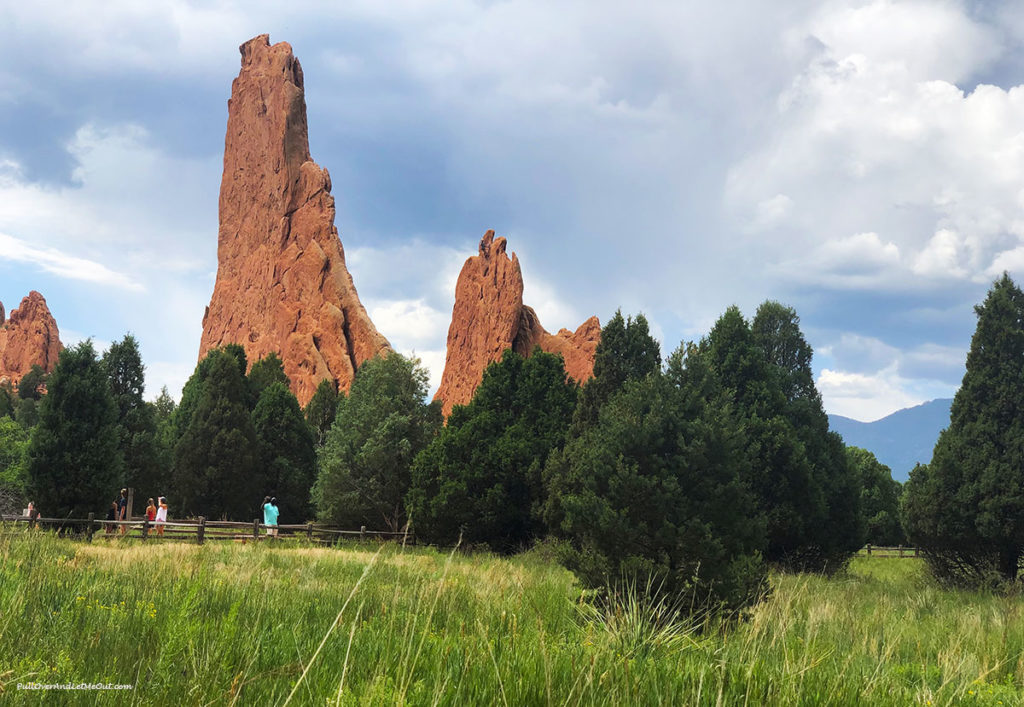 landscape view of Garden of the Gods in Colorado Springs