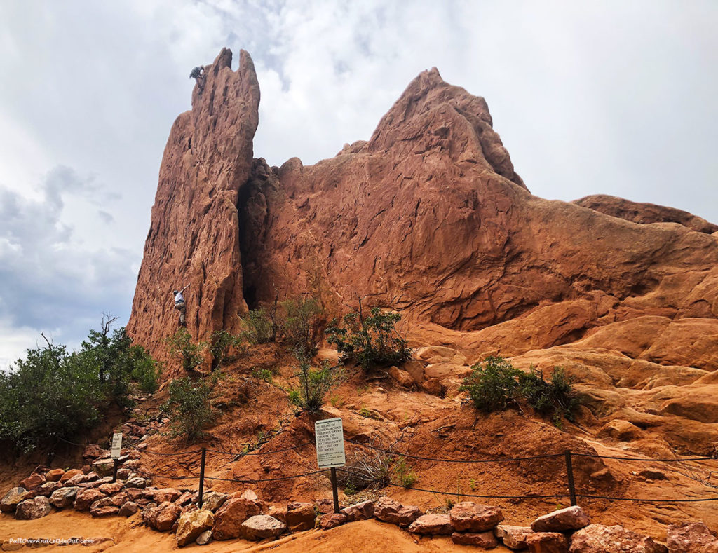 Climbers on the rocks at Garden of the Gods in Colorado Springs