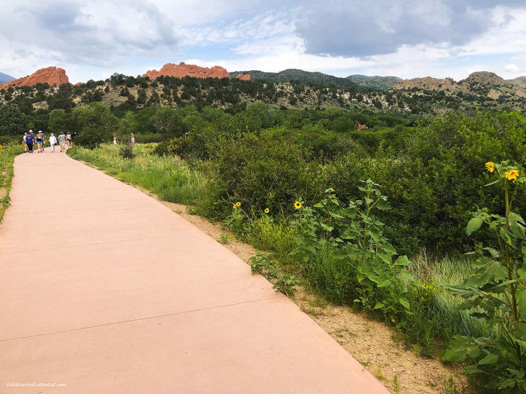 walking path leading to Garden of the Gods