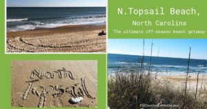 collage of beach pictures N. Topsail Beach, NC Pulloverandletmeout