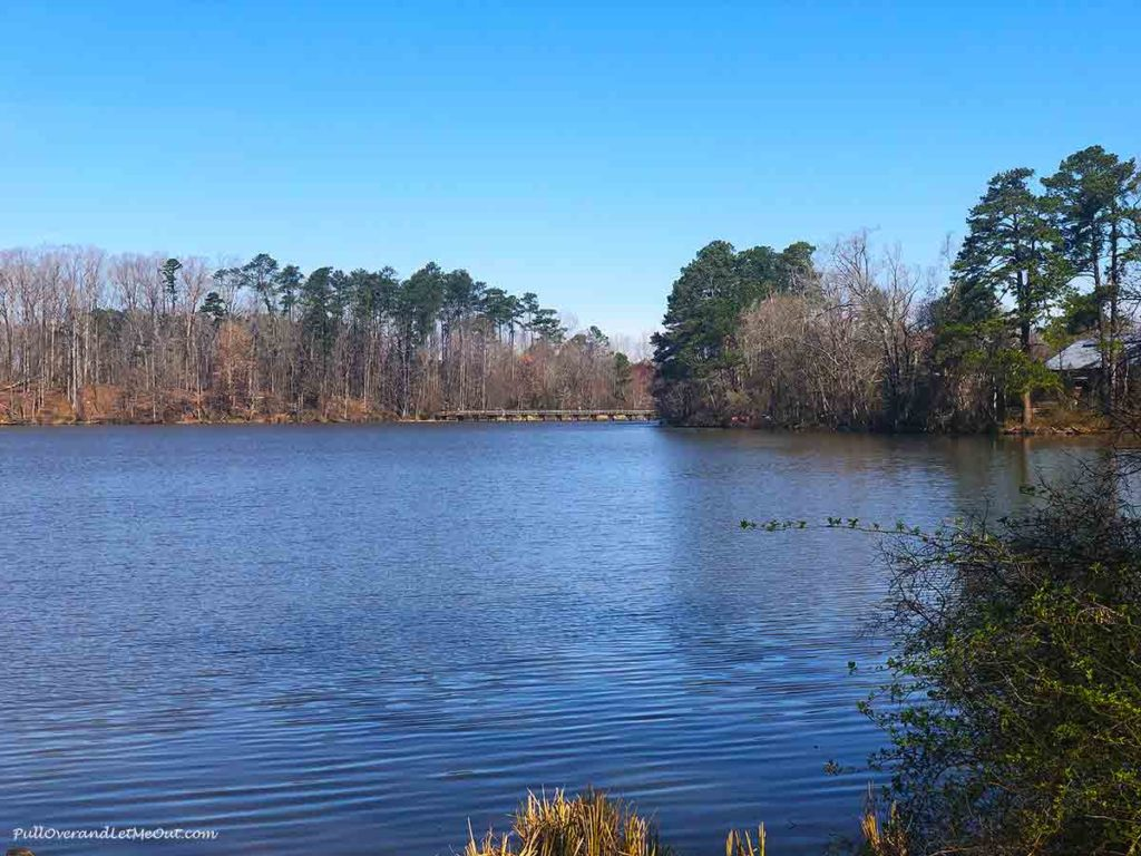 a pond at Yates Mill County Park in Raleigh, NC PullOverAndletmeOut