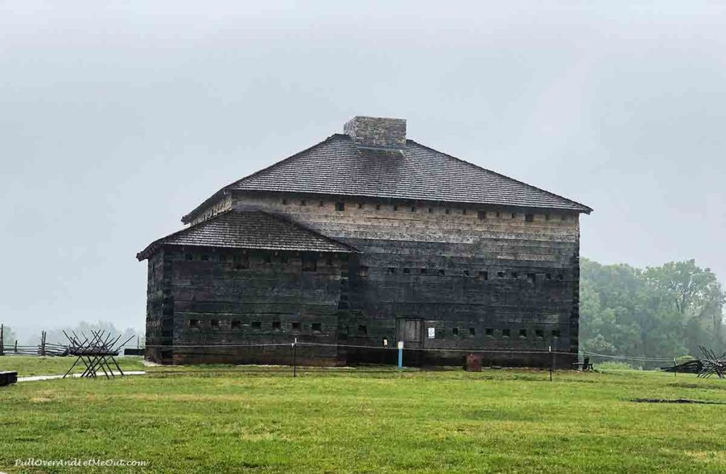 Exterior view of historic Fort Dobbs in Statesville, North Carolina PullOverAndLetMeOut