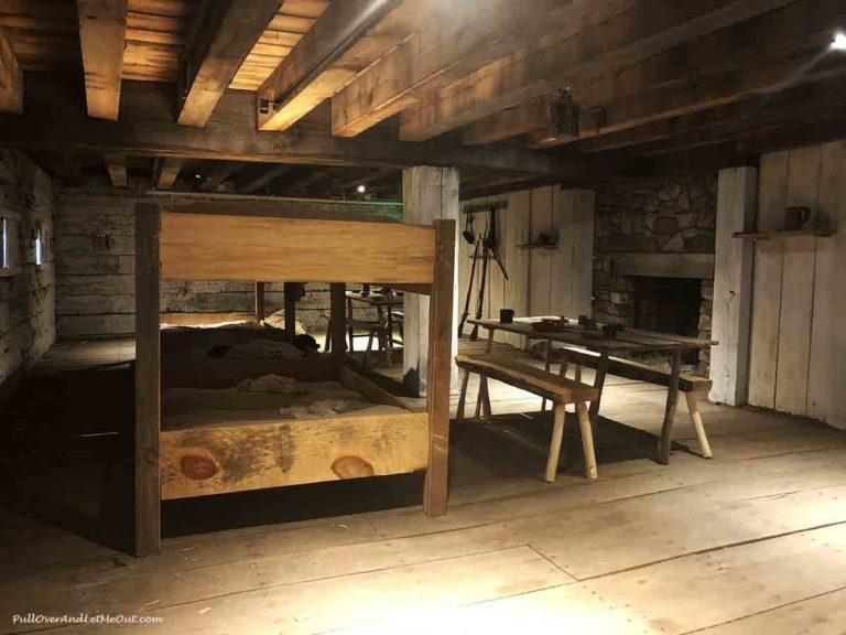 bunkbeds at Fort Dobbs State Historic Site in Statesville, NC PullOverAndLetMeOut