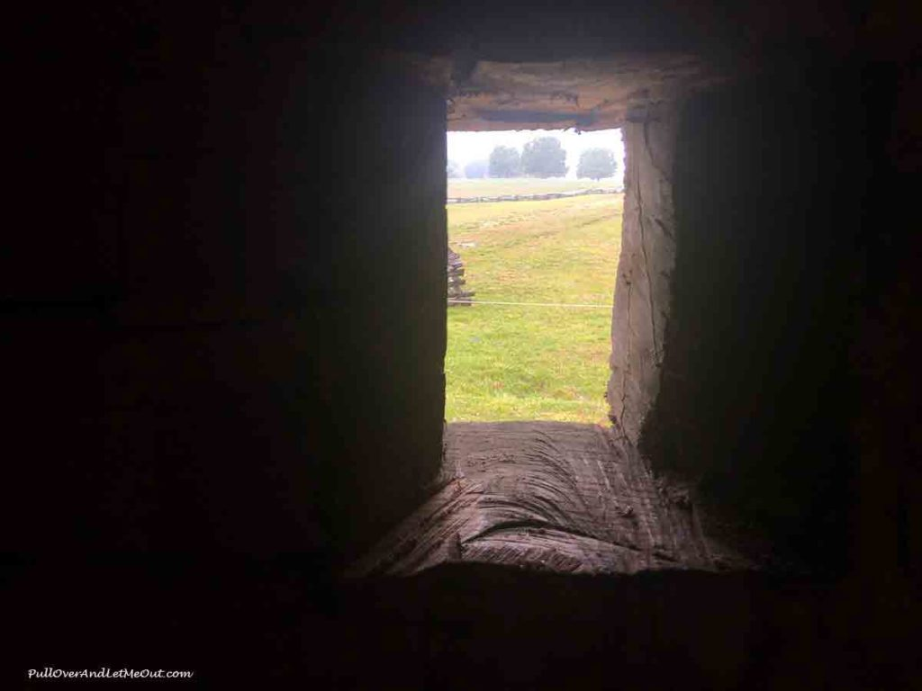 a loophole for a gun at Fort Dobbs State Historic Site in Statesville, NC PullOverAndLetMeOut