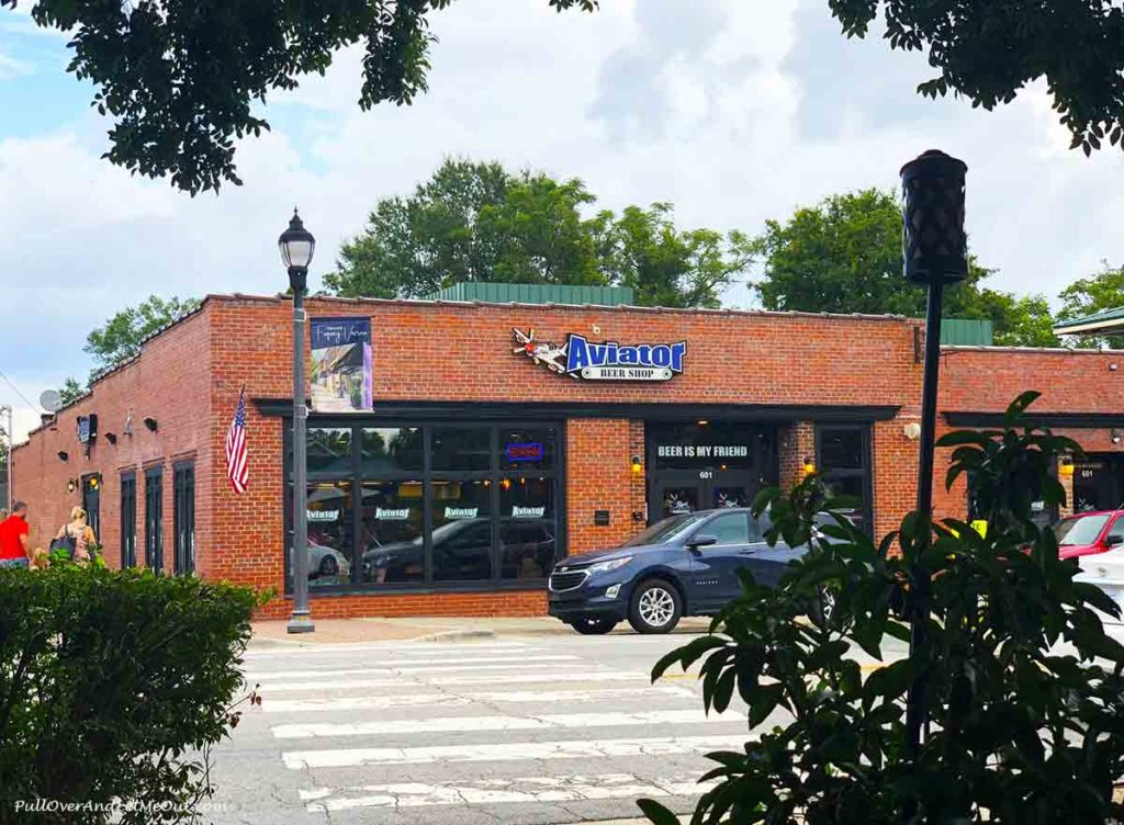 Store front of the Aviator Brewing Co. Bottle Shop in Fuquay-Varina NC PullOverAndLetMeOut