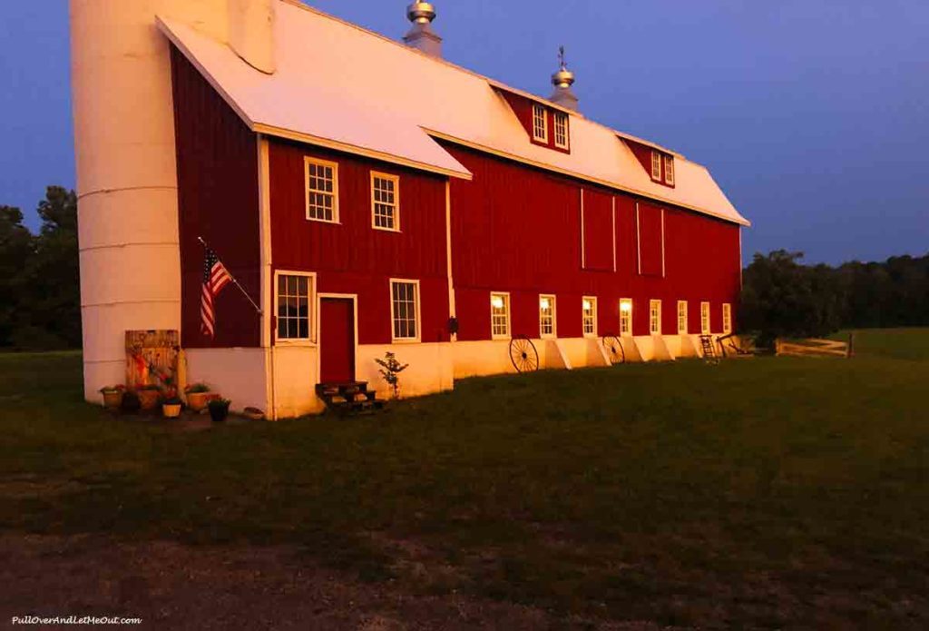 Sunset on a barn in Door County Wisconsin PullOverAndLetMeOut