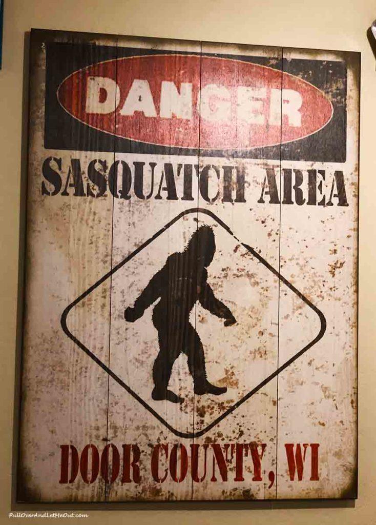 Danger Sasquatch Area sign