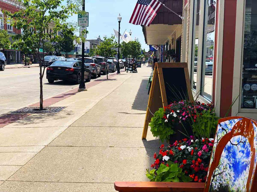 the main street in Sturgeon Bay Door County Wisconsin