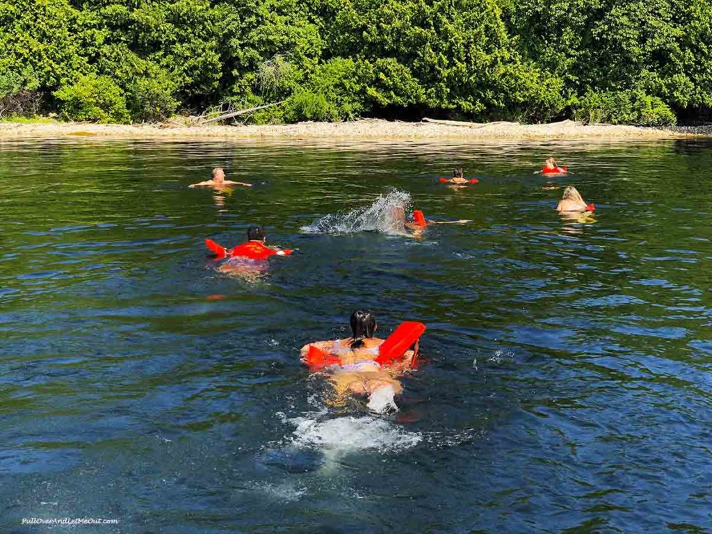 swimming in Lake Michigan Door County Wisconsin PullOverAndLetMeOut