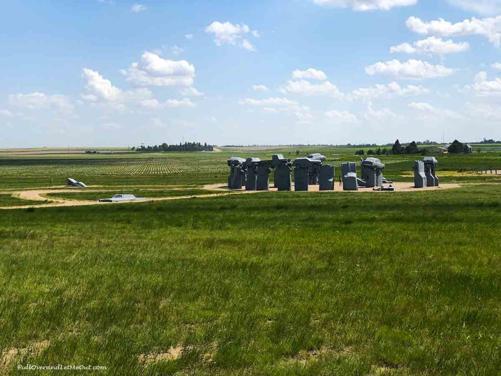 Distant view of Carhenge in Alliance, NE PullOverAndLetMeOut