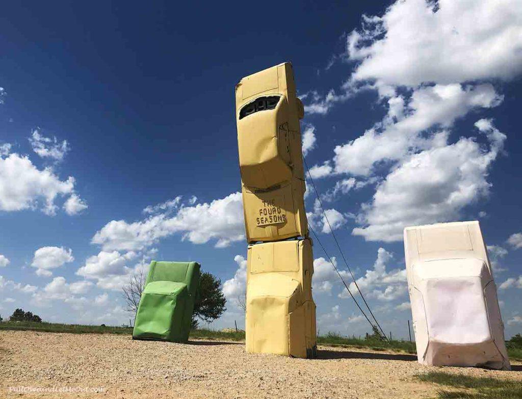 Car sculpture at Carhenge in Alliance, NE