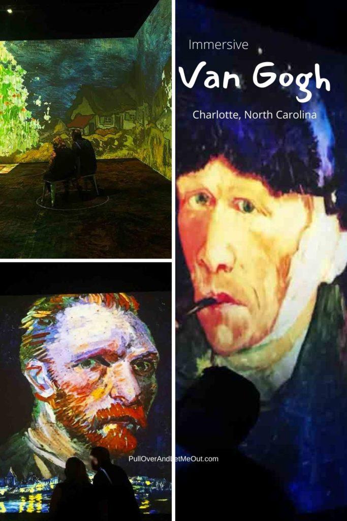 collage of Van Gogh pictures Immersive Van Gogh Charlotte, NC