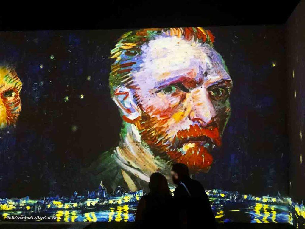Giant digital picture of Vincen Van Gogh in Charlotte, NC