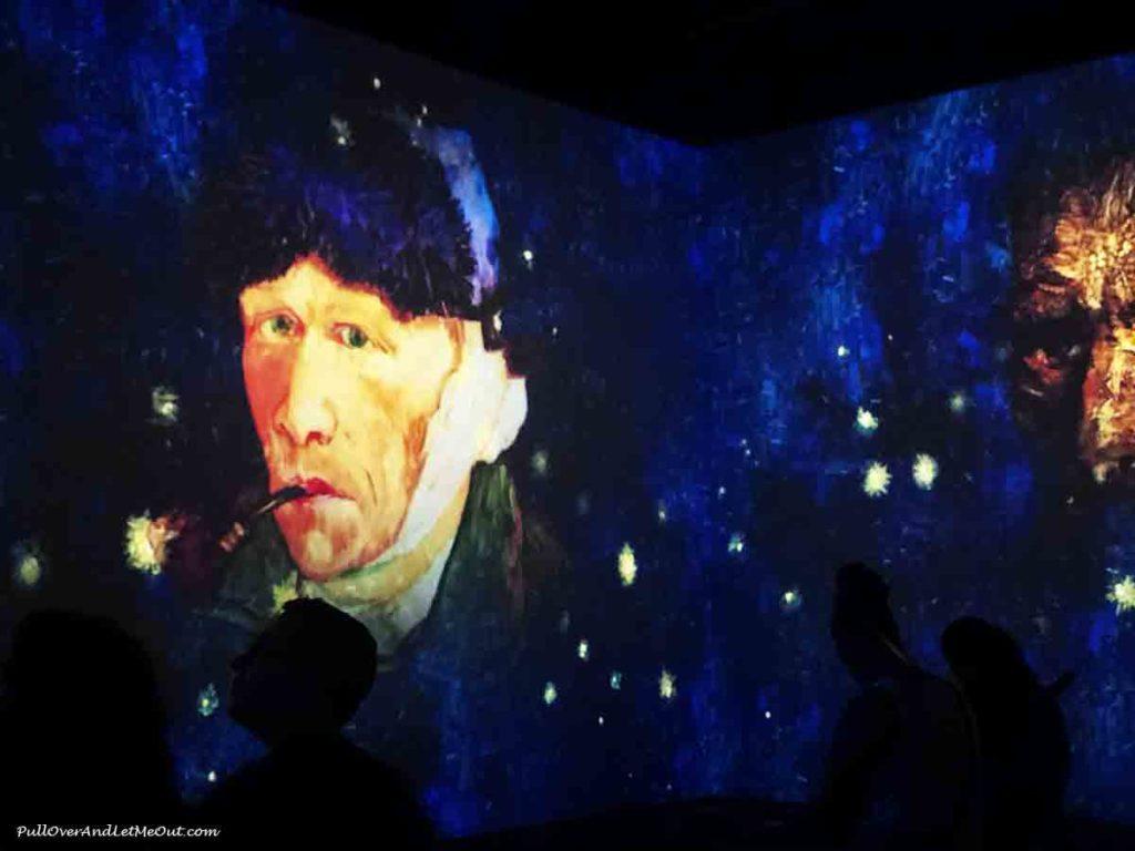 Vincent Van Gogh self portrait Immersive Van Gogh Charlotte