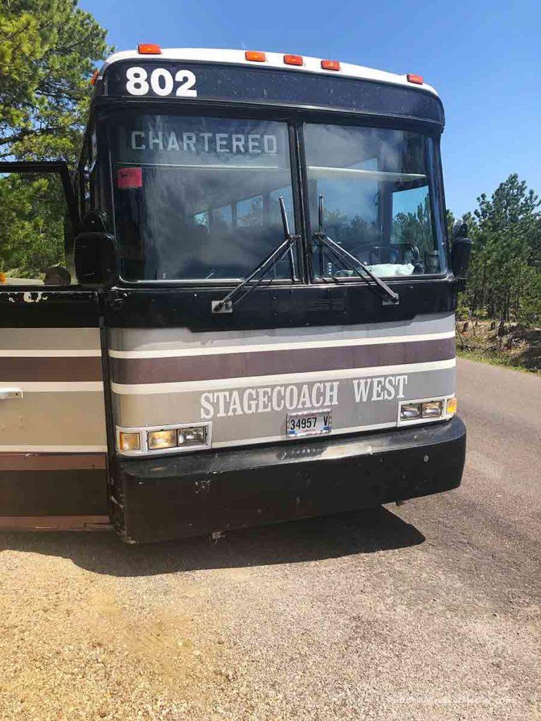 Bus 802 Stagecoach west tour bus