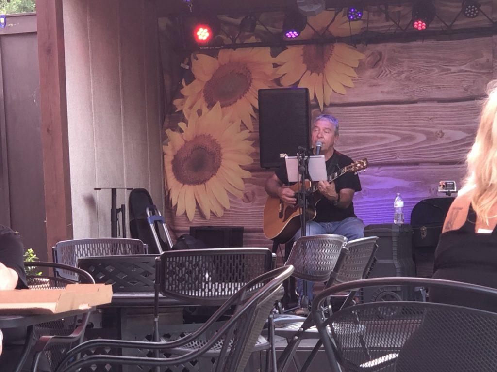 Teddy Baker performing at Serenity Cellars