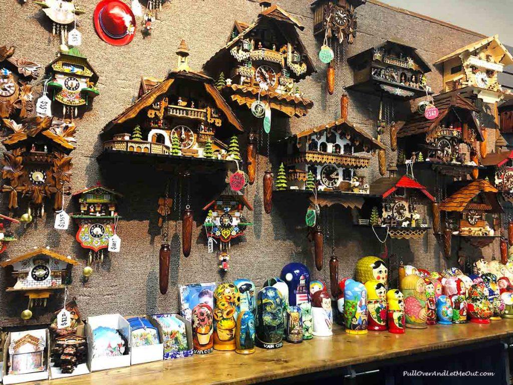 German kookoo clocks in a shop in Helen, GA