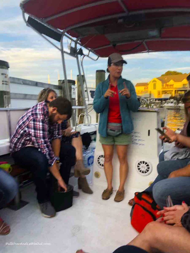 Captain Joyce of St. Michaels Harbor Shuttle Tours