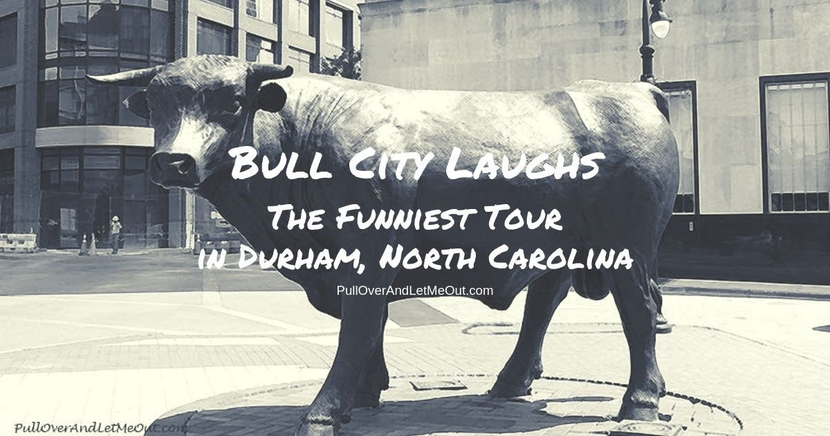 Major the Bull statue in Durham, NC PullOverAndLetMeOut.com