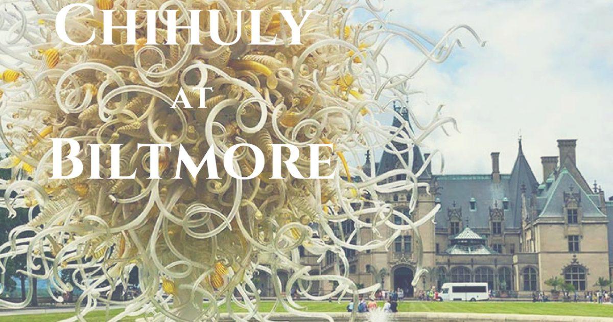 The Chihuly Exhibit at Biltmore Estate is an incredible art exhibition. #PullOverAndLetMeOut #ChihulyAtBiltmore #Chihuly #artglass #NorthCarolina #VisitNC #Biltmore #Asheville