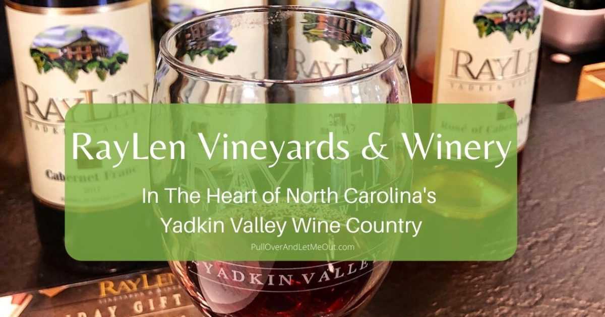 Wine glasses at RayLen Vineyards & Winery PullOverAndLetMeOut