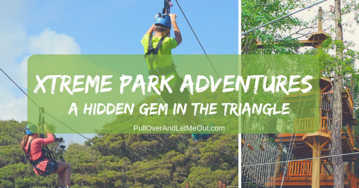 Xtreme Park Adventures is a hidden gem in the Triangle region of North Carolina. The park offers family-friendly fun in a variety of ways; paintball, airsoft, ziplining, escape rooms and more. There's fun for the entire family. #PullOverAndLetMeOut #travel #familyfun #familyfriendly #paintball #airsoft #games #kidzone #zipline #ropecourse